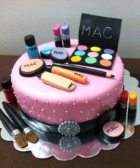 Fashion and Makeup Theme Cakes