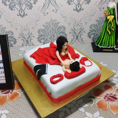 Girl on Top Theme Naughty Cake Delivery in Ghaziabad