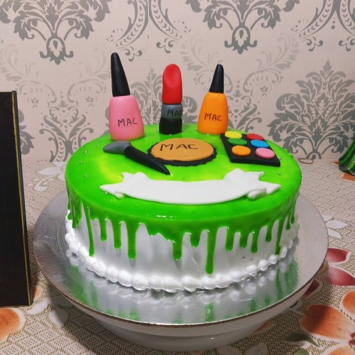 Makeup Semi Fondant Cake Delivery in Ghaziabad