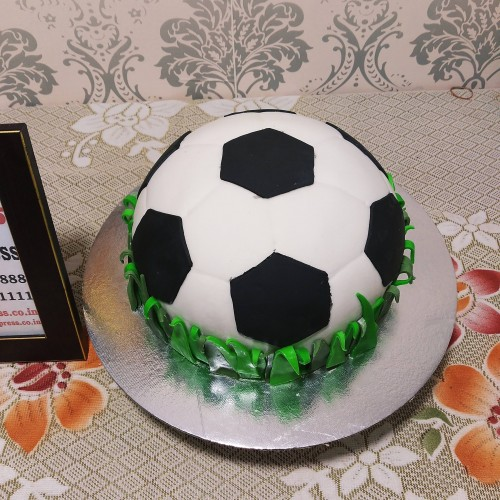 Football Shape Fondant Cake Delivery in Ghaziabad
